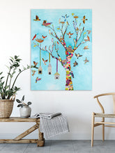 Load image into Gallery viewer, Flutter and Perch - Canvas Giclée Print