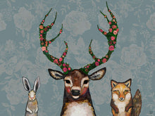 "Load image into Gallery viewer, Fox, Buck and Hare 30""x22.5"" Floorcloth"