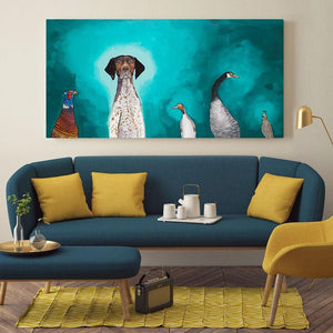 German Shorthaired Pointer - Canvas Giclée Print