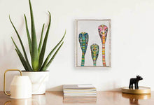 "Load image into Gallery viewer, Glass Cobras on Soft Pewter Mini Print 5""x7"""