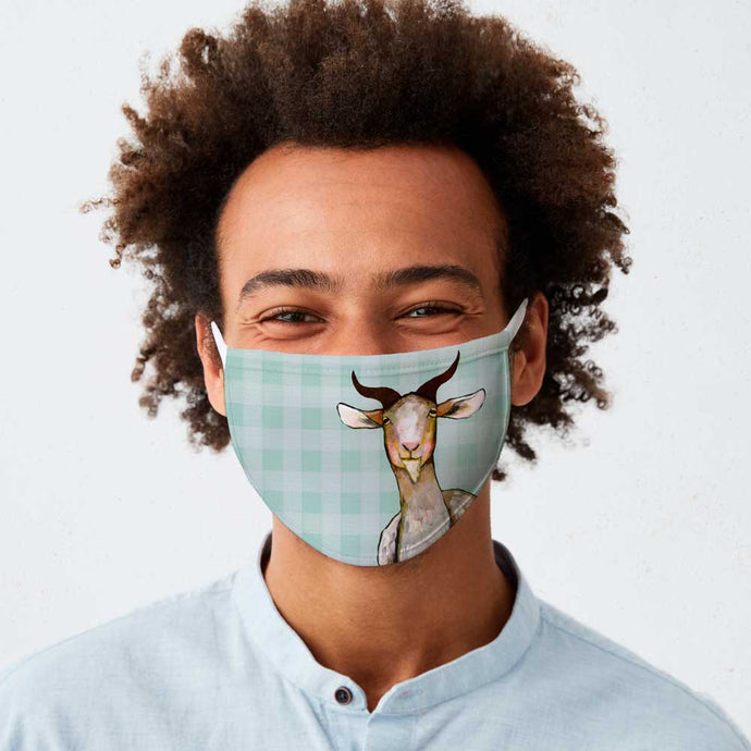 Goat Cotton Jersey Face Mask