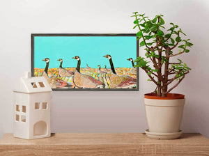 "Golden Geese Mini Print 10""x5"""
