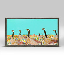 "Load image into Gallery viewer, Golden Geese Mini Print 10""x5"""