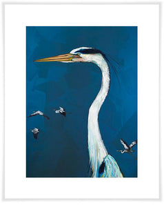 Great Blue Heron - Paper Giclée Print