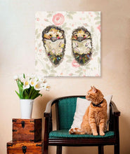 Load image into Gallery viewer, Hedgehog Duo Floral - Canvas Giclée Print