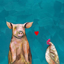 Load image into Gallery viewer, Hen Loves Pig - Canvas Giclée Print