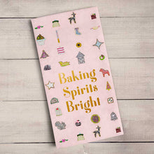 Load image into Gallery viewer, Holiday - Baking Spirits Bright Tea Towel