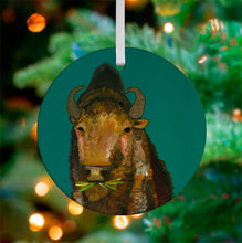Load image into Gallery viewer, Holiday  - Bison Ceramic Ornament