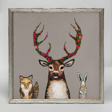 "Load image into Gallery viewer, Holiday - Fox, Buck & Hare - Silver Frame Mini Print 6"" X 6"""