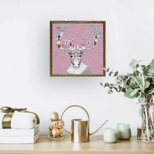 "Load image into Gallery viewer, Holiday - Caribou Cookied Embellished Mini Print 6""x6"""