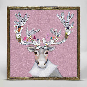 "Holiday - Caribou Cookied Embellished Mini Print 6""x6"""