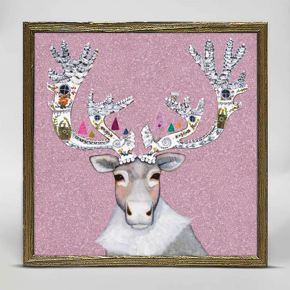 Holiday - Caribou Cookied Embellished Mini Print 6