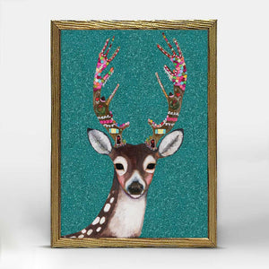 "Holiday - Gingerbread Deer Embellished Mini Print 5"" X 7"""