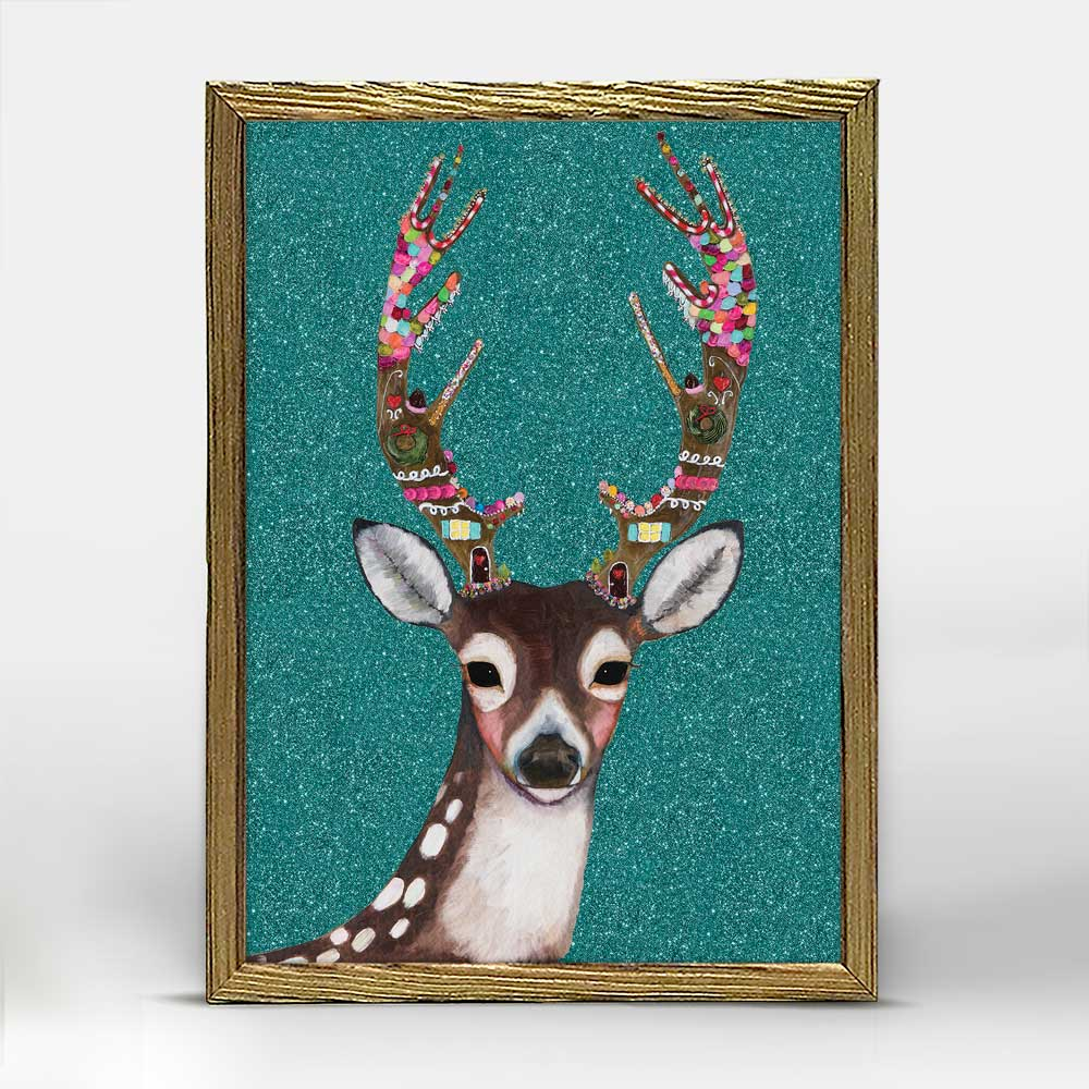 Holiday - Gingerbread Deer Embellished Mini Print 5