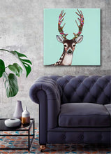 Load image into Gallery viewer, Holiday - Gingerbread Deer - Canvas Giclée Print