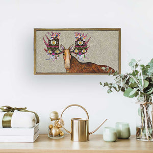 "Holiday - Gingerbread House Moose Embellished Mini Print 10"" x 5"""