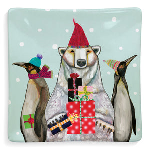 Holiday - Polar Bear and Penguins Dish