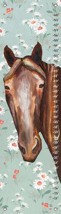Horse - Floral Growth Chart