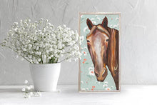 "Load image into Gallery viewer, Horse - Floral Mini Print 5""x10"""