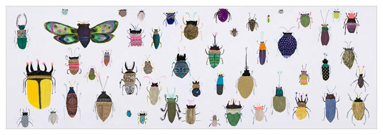 Insect Friends Detail - Canvas Giclée Print