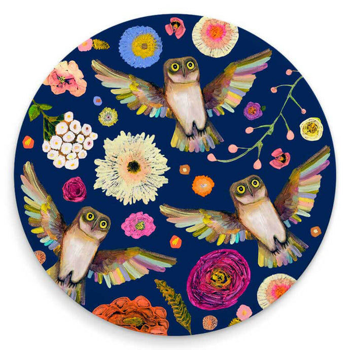 Into the Woods Owl Coaster