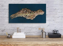 Load image into Gallery viewer, Leopard Seal on Indigo - Canvas Giclée Print