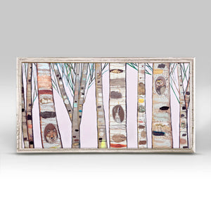 "Light Pink Birch Trees Mini Print 10""x5"""