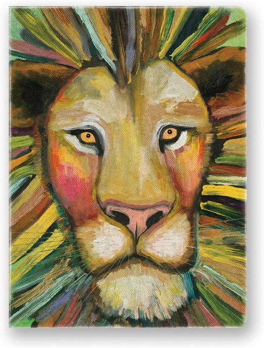 Lion Canvas Hardcover Journal