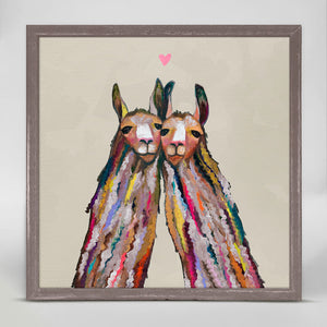 "Llama Love - Neutral Mini Print 6""x6"""