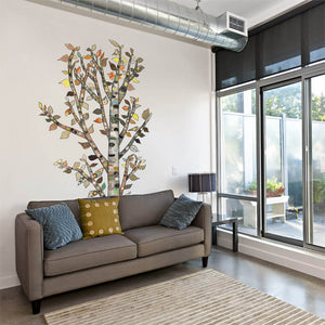 "Lone Birch Tree Wall Decal 54"" x 60"""