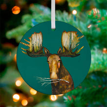 Load image into Gallery viewer, Holiday - Merry Moose Ceramic Ornament
