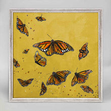 "Load image into Gallery viewer, Monarchs - Gold Mini Print 6""x6"""