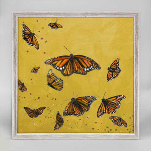 "Monarchs - Gold Mini Print 6""x6"""