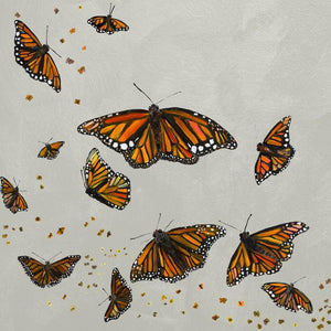 Monarchs in Misty Clouds - Canvas Giclée Print