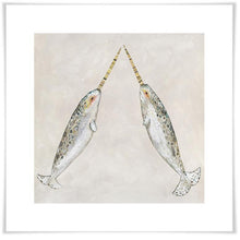 Load image into Gallery viewer, Narwhal Duo - Canvas Giclée Print