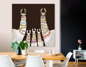 Necklaces Chocolate Brown - Canvas Giclée Print