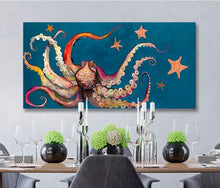 Load image into Gallery viewer, Octopus and Starfish - Canvas Giclée Print