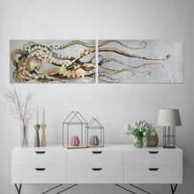 Load image into Gallery viewer, Octopus Diptych - Canvas Giclée Print