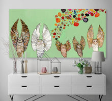 Load image into Gallery viewer, Owl Ballet Troupe - Canvas Giclée Print