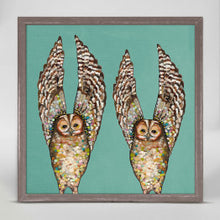 "Load image into Gallery viewer, Owl Duo Mini Print 6""x6"""