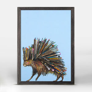 "Paintbrush Porcupine Mini Print 5""x7"""