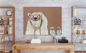 Polar Bear Cubs - Canvas Giclée Print