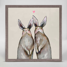 "Load image into Gallery viewer, Rabbit Love - Neutral Mini Print 6""x6"""