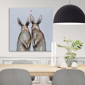 Rabbit Love - Canvas Giclée Print
