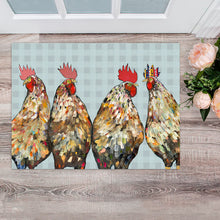 "Load image into Gallery viewer, Roosters 30""x22.5"" Floorcloth"