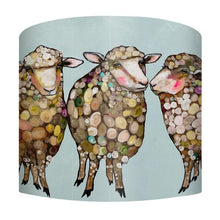 Load image into Gallery viewer, Woolly Sheep on Blue Lamp - Small