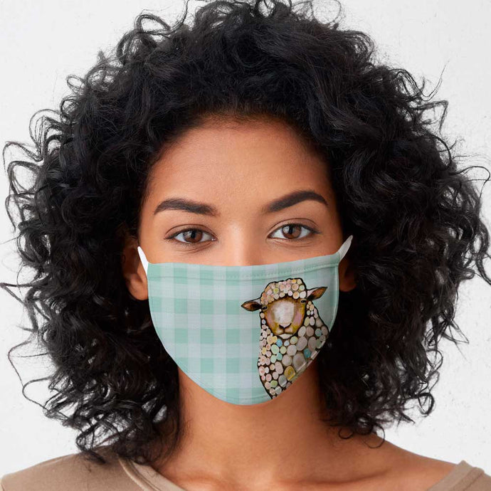 Sheep Cotton Jersey Face Mask
