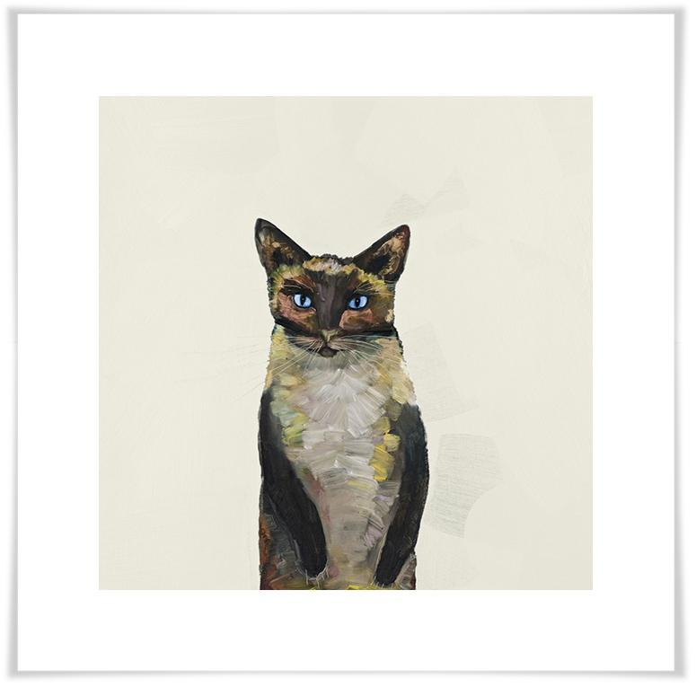 Siamese Cat on Cream - Paper Giclée Print