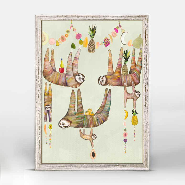 Sloth Family's Fruit Basket Mini Print 5