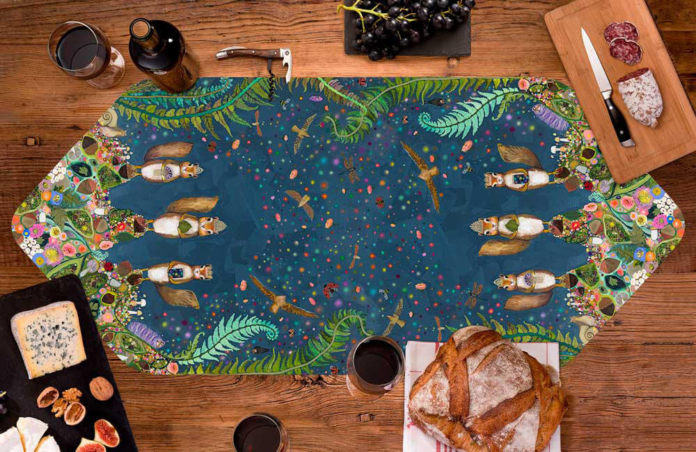 Squirrel Royale Table Runner